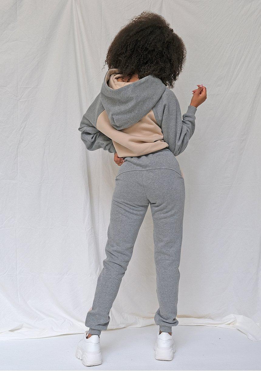 Spodnie dresowe ze wstawką melange ILM