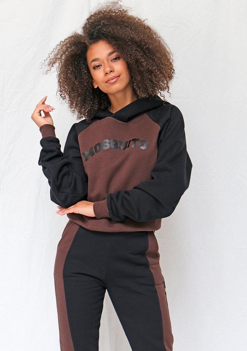 Bluza z kapturem brown