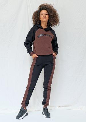 Spodnie dresowe ze wstawką brown ILM