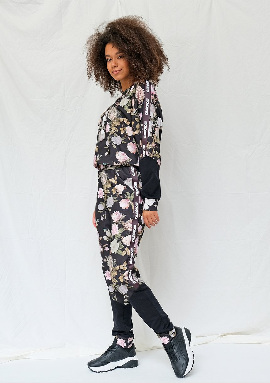 Bluza dresowa rose print ILM