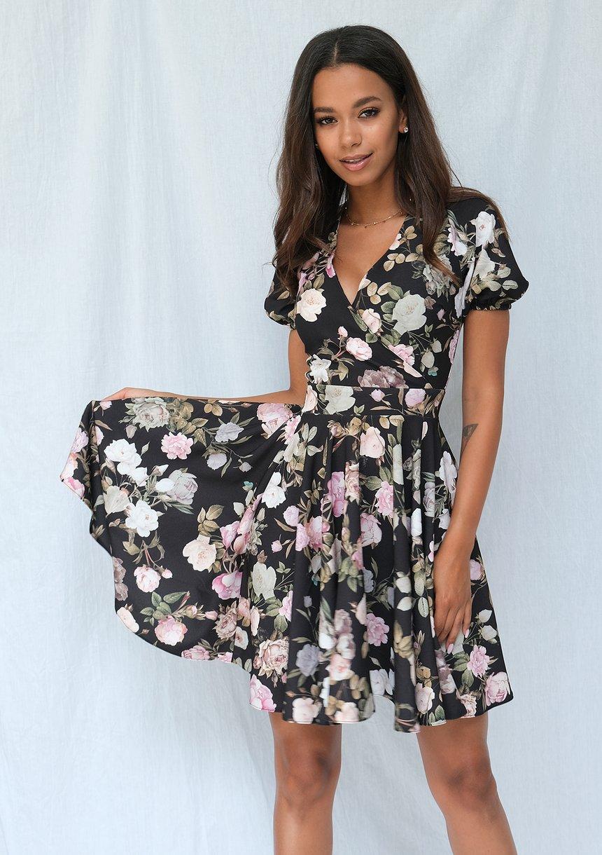 Sukienka z półtora koła rose
