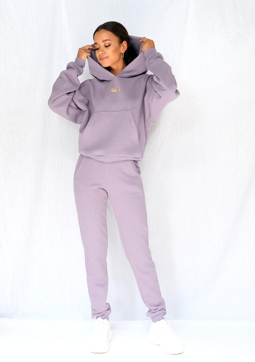 Bluza z kieszenią i kapturem Lavender ILM
