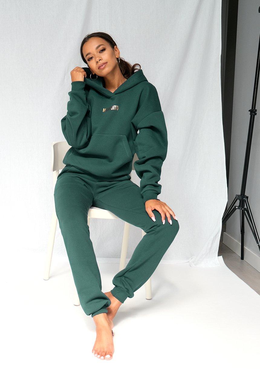 Bluza z kieszenią i kapturem Forest Green ILM
