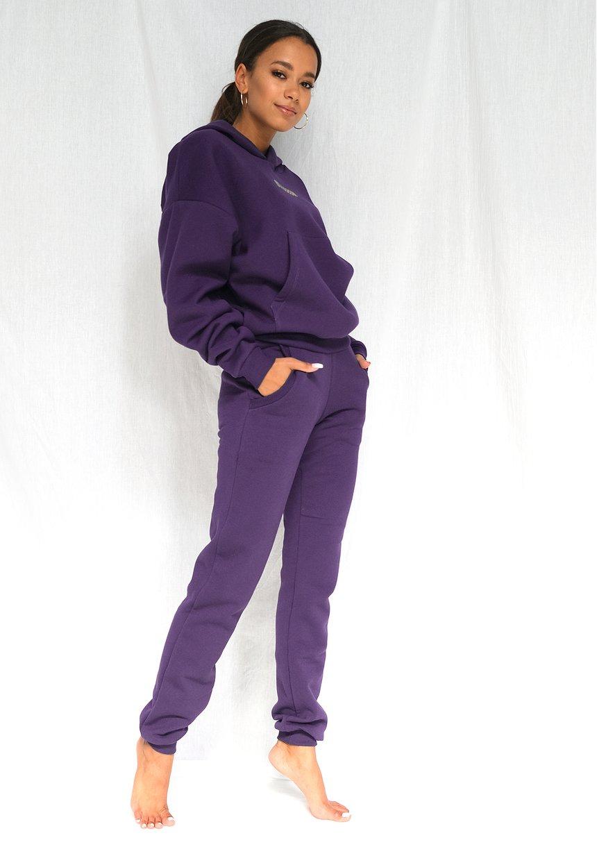 Bluza z kieszenią i kapturem Dark Plum ILM