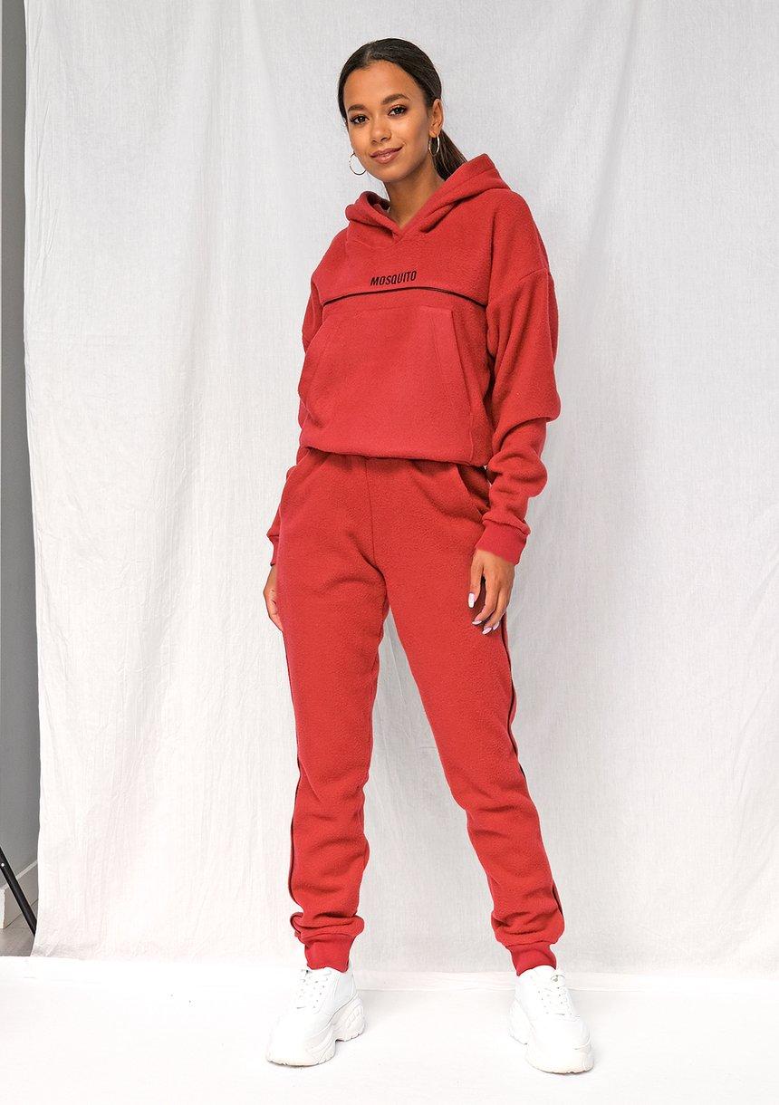 Spodnie z polaru czerwone ILM