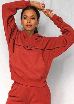 Bluza z polaru black logo czerwona ILM