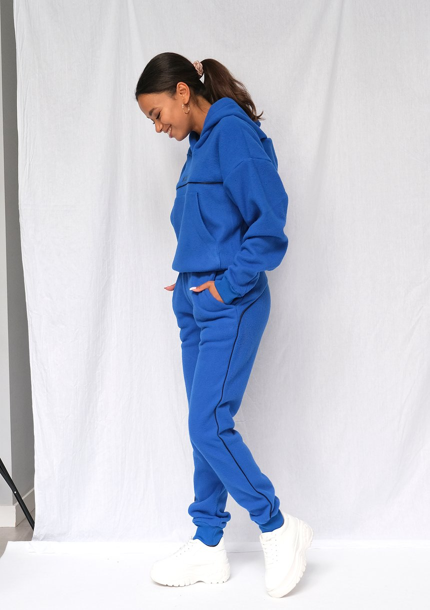 Spodnie z polaru kobaltowe ILM