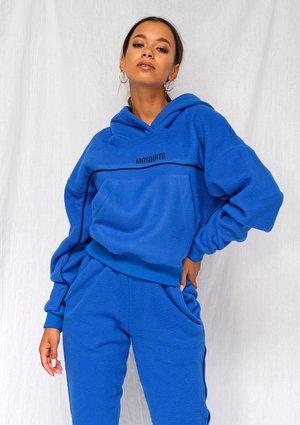 Bluza z polaru black logo kobaltowa ILM