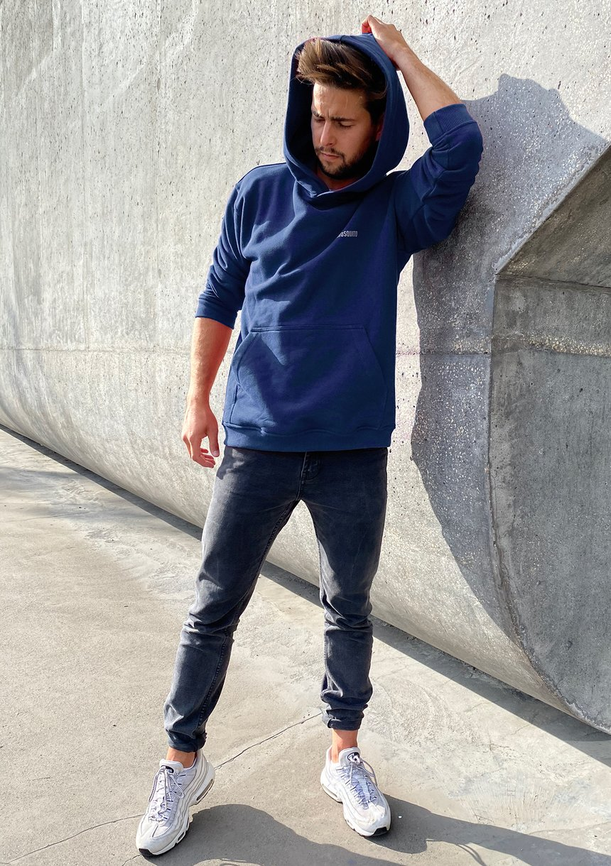 Bluza kangurka unisex ILM monaco blue