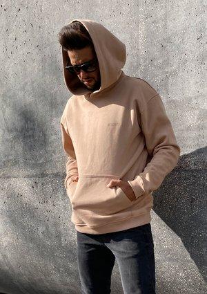 Bluza kangurka unisex ILM beżowa