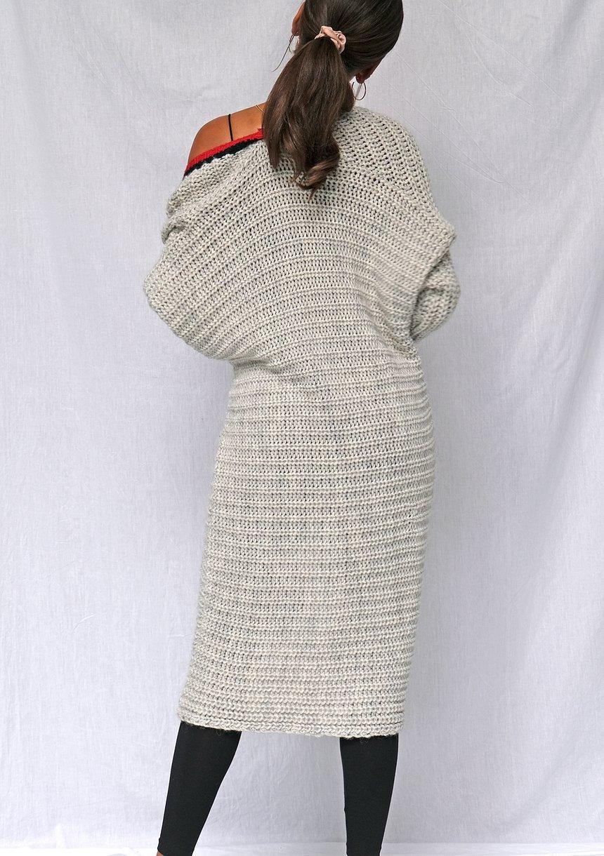 Melanżowy kardigan z wełną ILM