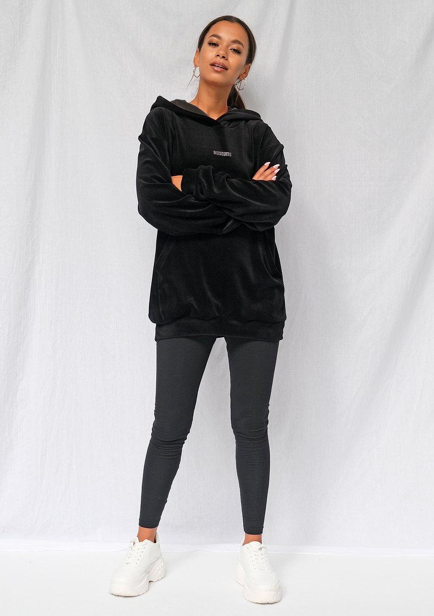 Bluza z weluru unisex czarna ILM