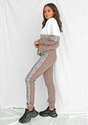Spodnie ze wstawką w cętki cofce ILM