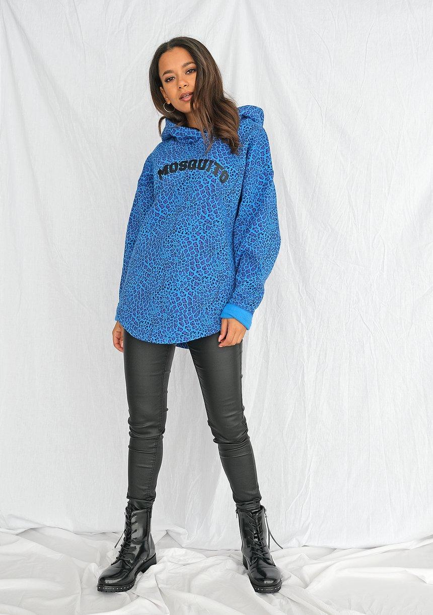 Oversizowa bluza w cętki niebieska ILM