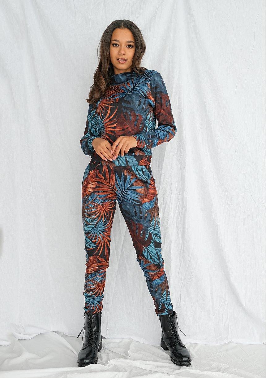 Spodnie jogger print