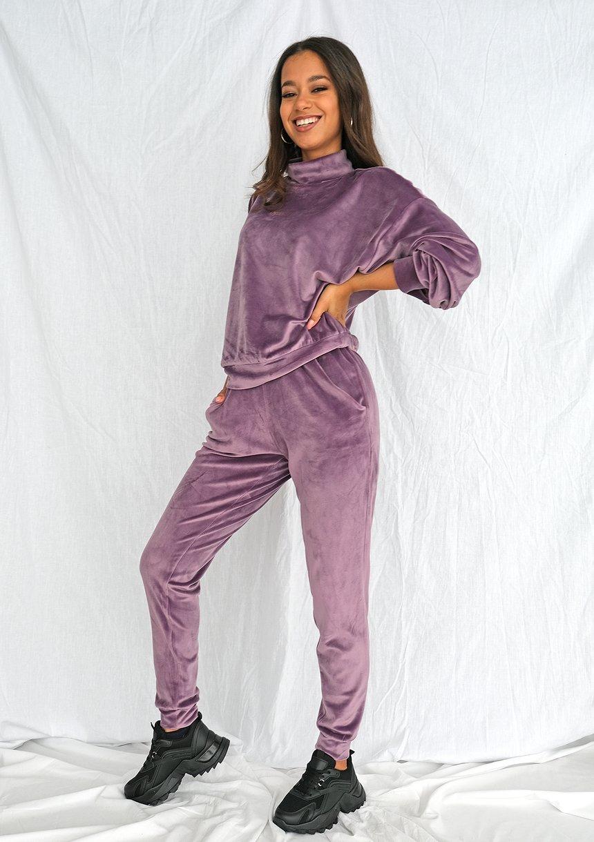 Spodnie soft velvet lavenda ILM