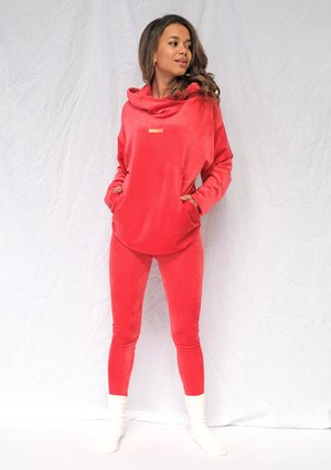 Legginsy soft velvet Czerwone ILM