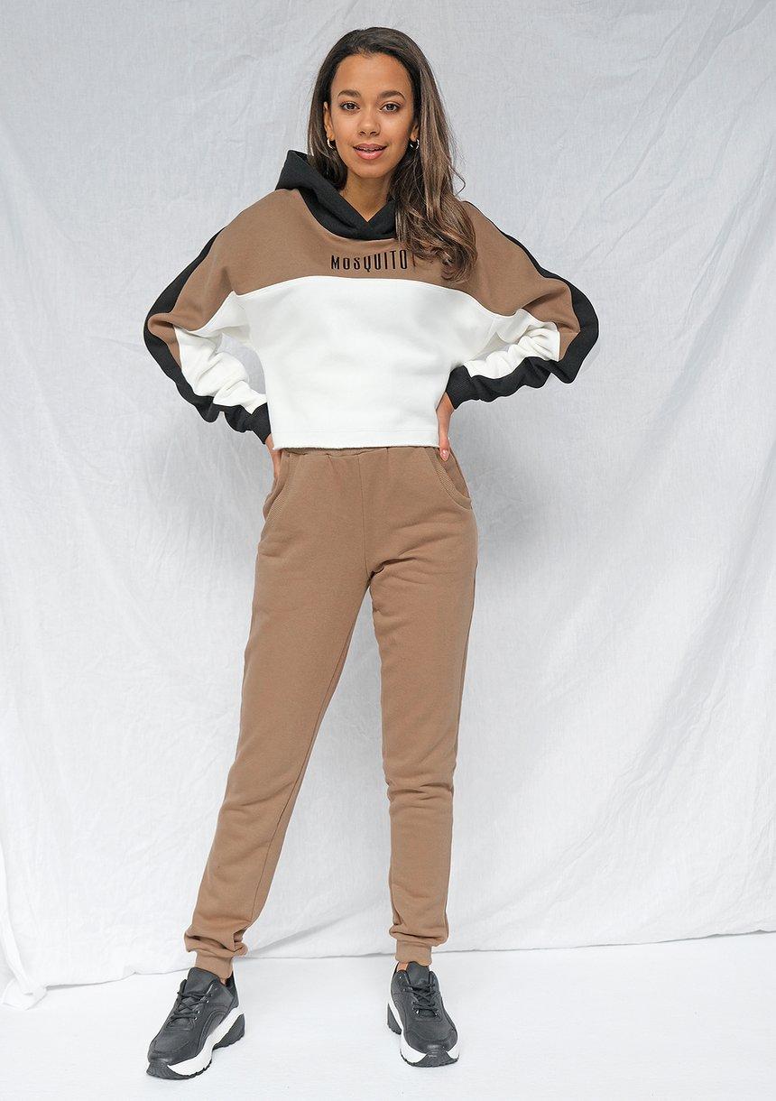 Bluza z łączonych kolorów logo Coffe ILM