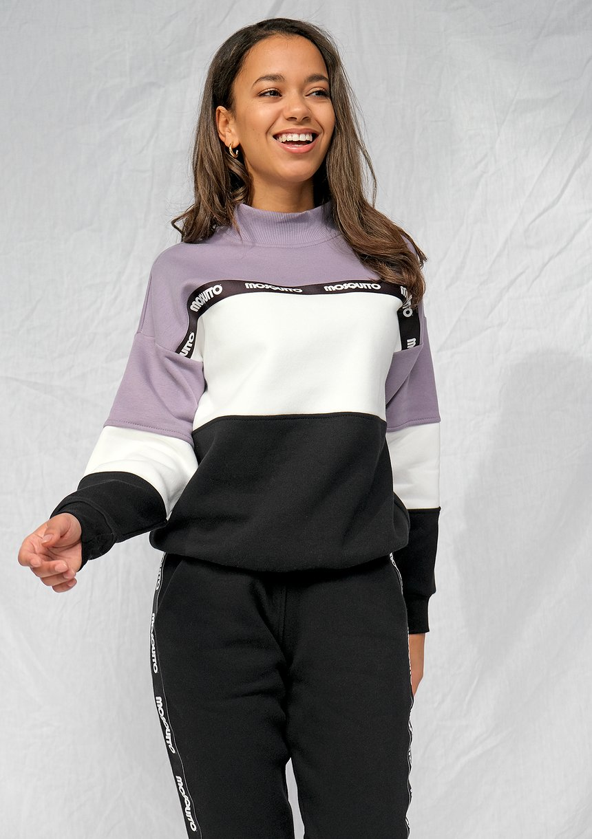 Bluza dresowa z lampasem logo Lawenda ILM