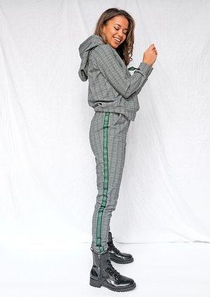 Spodnie jogger w kratkę Zielone