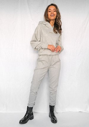 Grey quilted cotton sweatpants