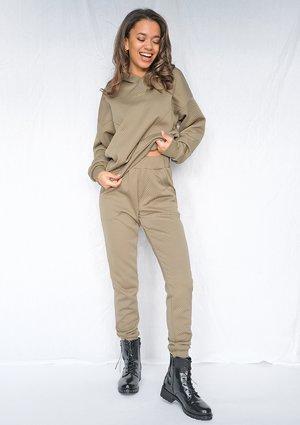 Spodnie dresowe z dzianiny Pik Khaki