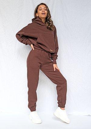 Chocolate brown loose fit sweatpants ILM