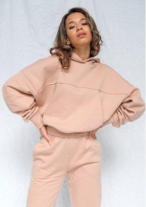 Taupe loose fit hoodie ILM