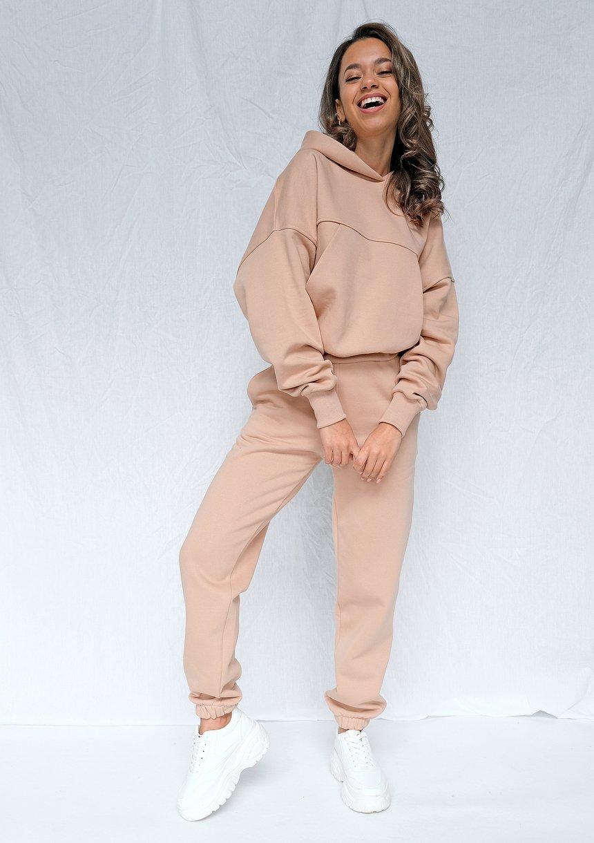 Dresowe spodnie o luźnym kroju Taupe ILM