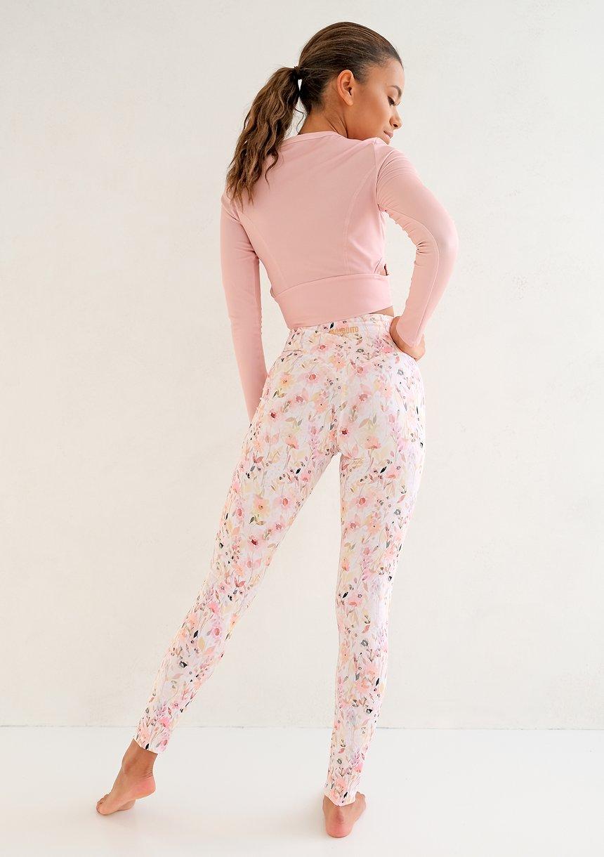 Legginsy Hi Pure Pink Flower