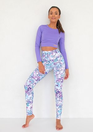 Legginsy Hi Pure Blue Flower