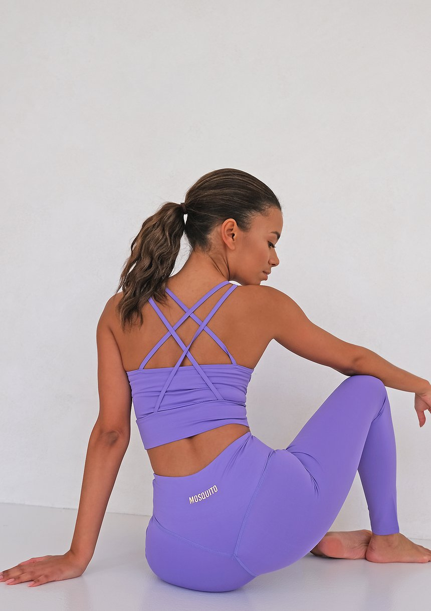 Strip Back Top Violet