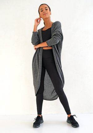 Long lightweight cardigan in dark grey