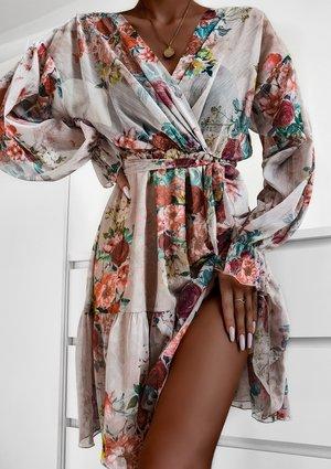 Sukienka z szyfonu powder