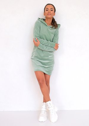 Smoke Mint velvet dress