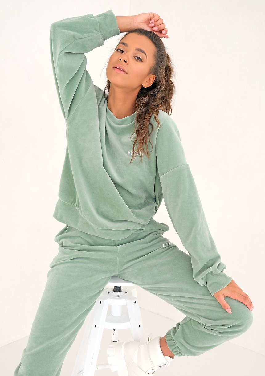 Welurowa bluza Smoke Mint ILM