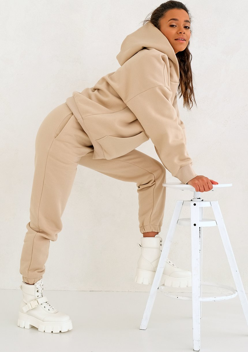 Warm Sand loose fit sweatpants