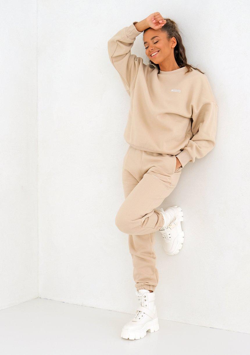 Warm Sand Simple Sweatshirt