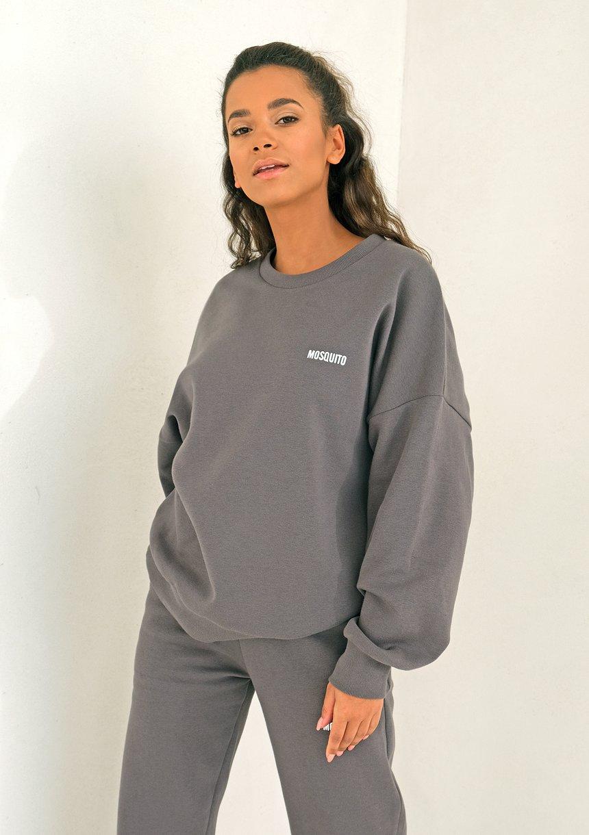 Dark Stone Simple Sweatshirt