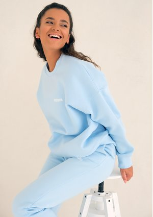 Baby Blue Simple Sweatshirt