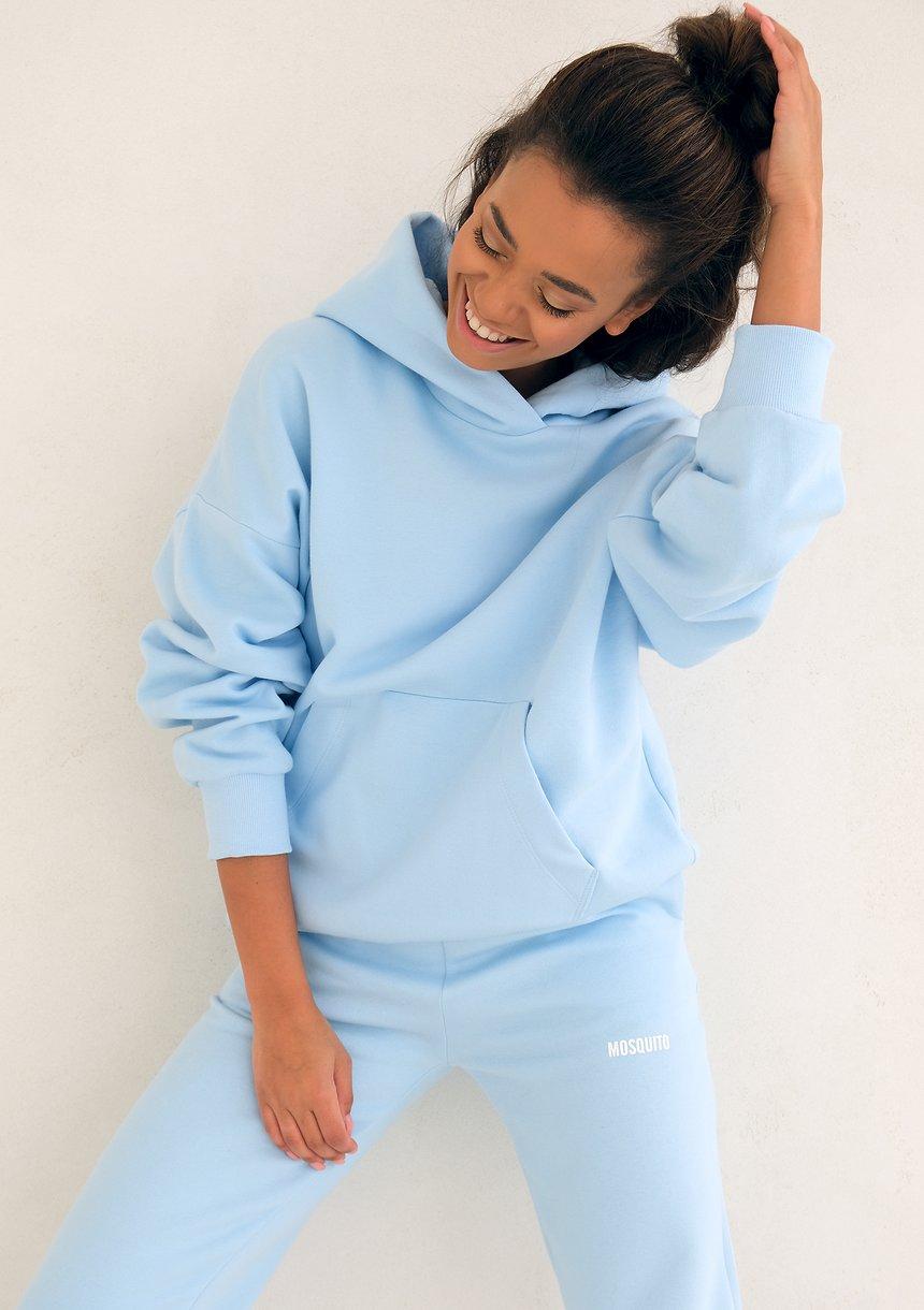 Baby Blue Hoodie Sweatshirt