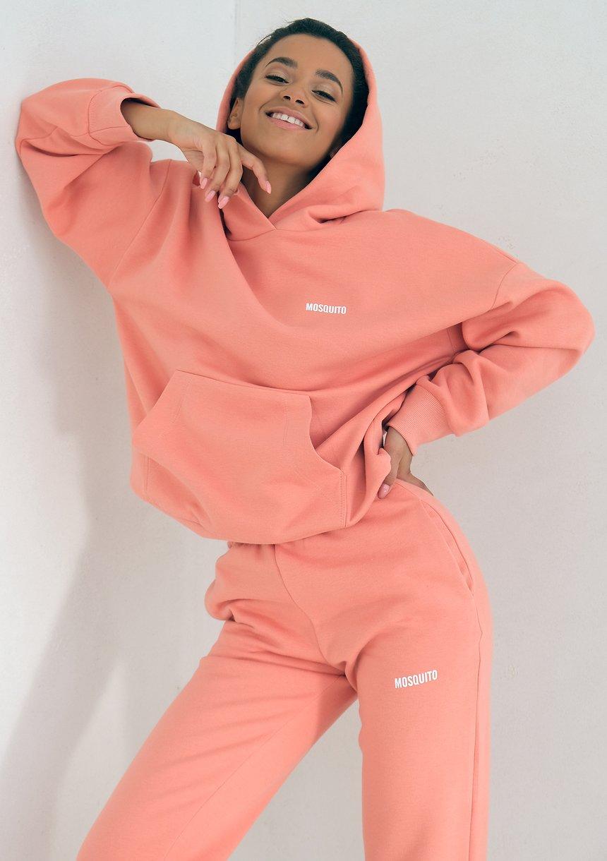 Coral Blush Hoodie Sweatshirt