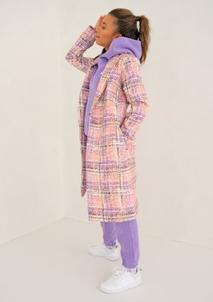 Pink Pastel print coat