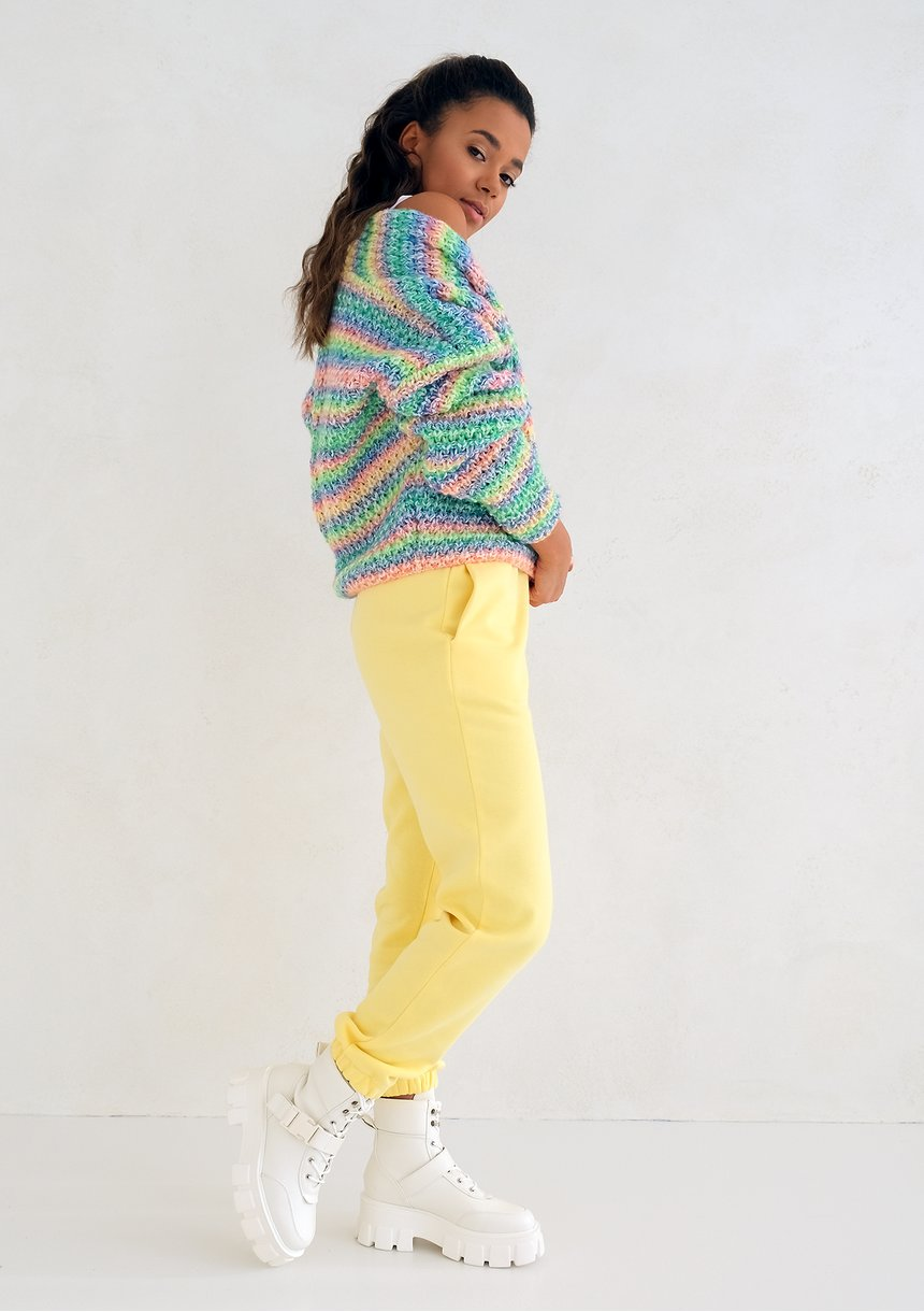 Sour Yellow loose fit sweatpants