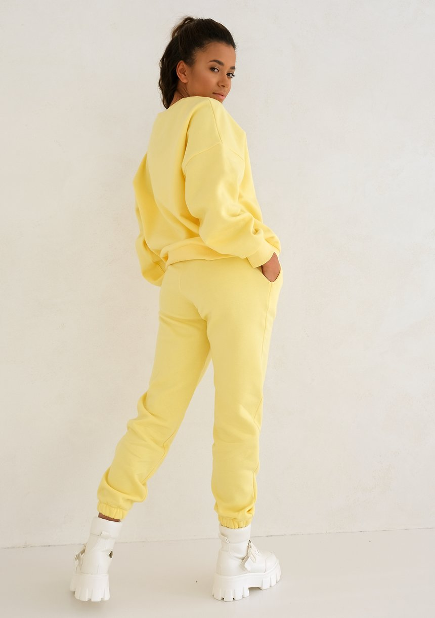 Sour Yellow Simple Sweatshirt