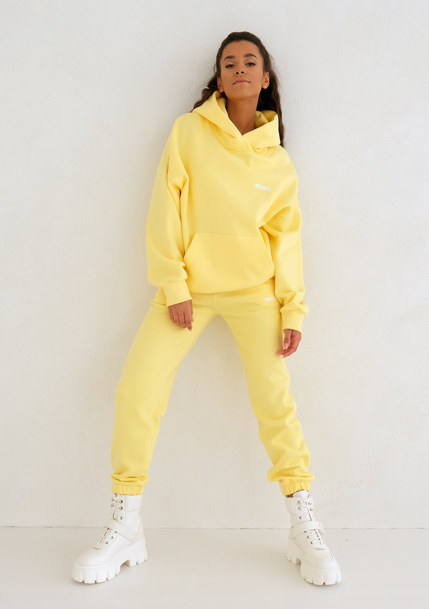 Bluza z kapturem Sour Yellow ILM