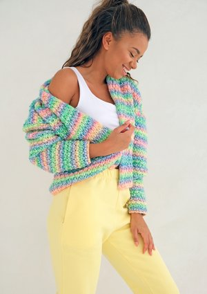 Short colorful cardigan