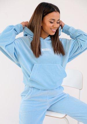 Baby blue velvet hoodie ILM