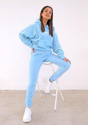 Baby blue velvet sweatpants ILM