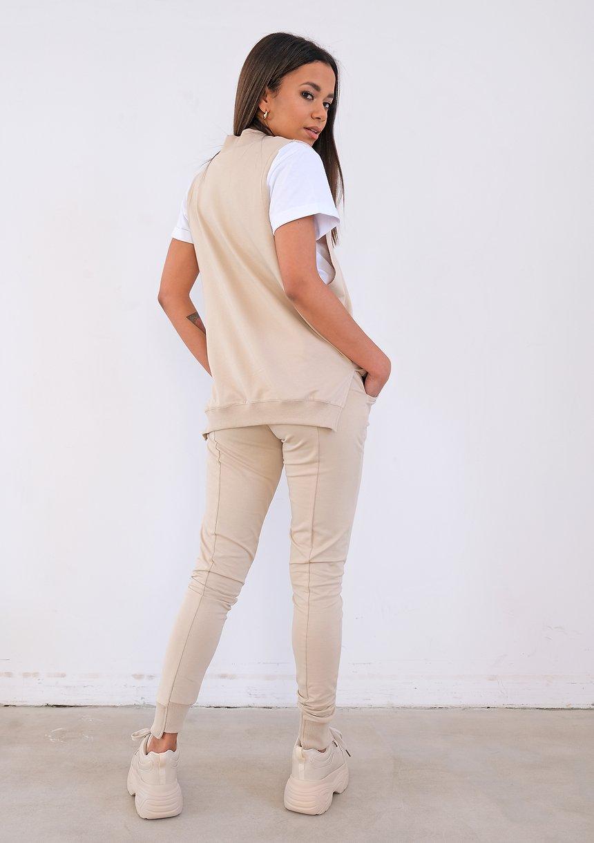 Spodnie bawełniane pastel Nude ILM